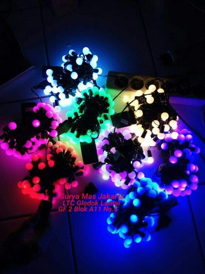 Lampu hias natal led 5 meter bulat / bola / kelereng / anggur