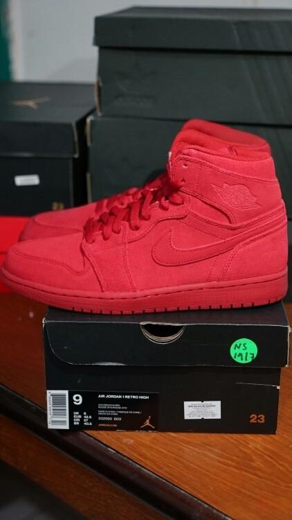 576d2a998a9ca7 Air Jordan 1 Retro High - Red Suede Original Authentic 100% Sneakers