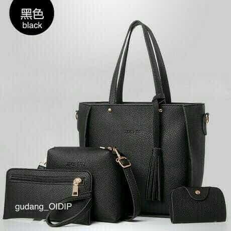 Tas wanita hand bag tas bahu tas ibu murah paket 4in1