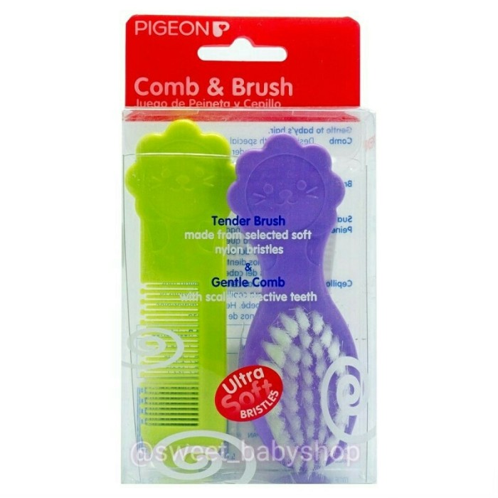 pigeon comb & brush set / baby grooming set / sisir sikat bayi