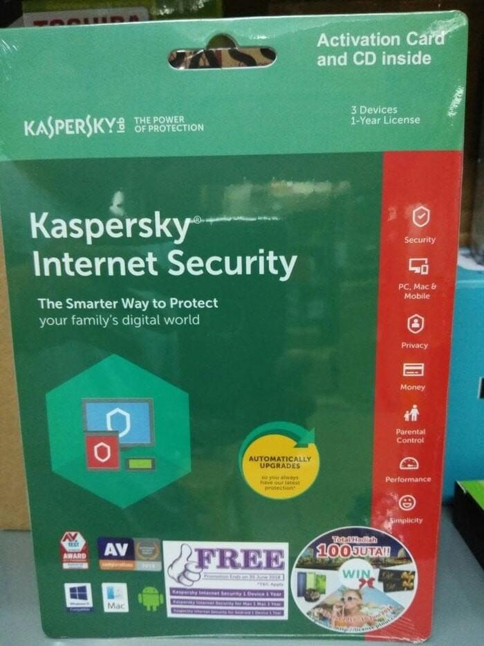 harga Kaspersky internet security 2018 3user Tokopedia.com