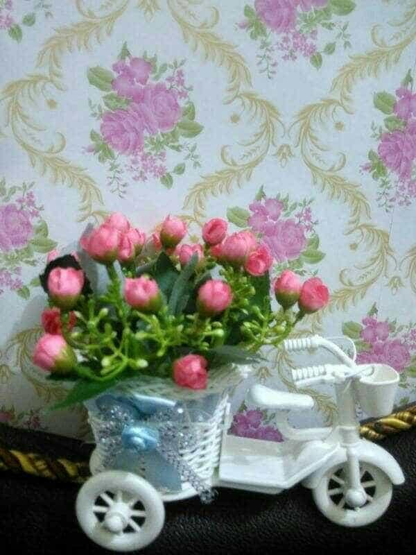 Bunga Plastik Sepeda Hiasan Meja Ruang Tamu