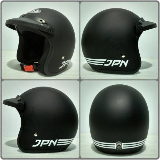 harga Helm retro jpn arc hitam doff + pet topi Tokopedia.com