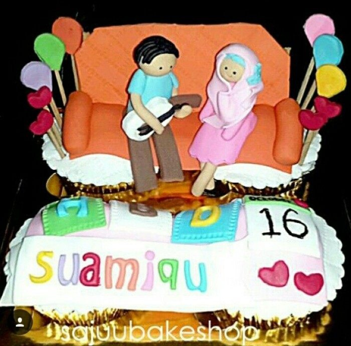Jual Kue Ulang Tahun Suami 4pc 2 3d Kota Tangerang Selatan Sajuubakeshop Tokopedia