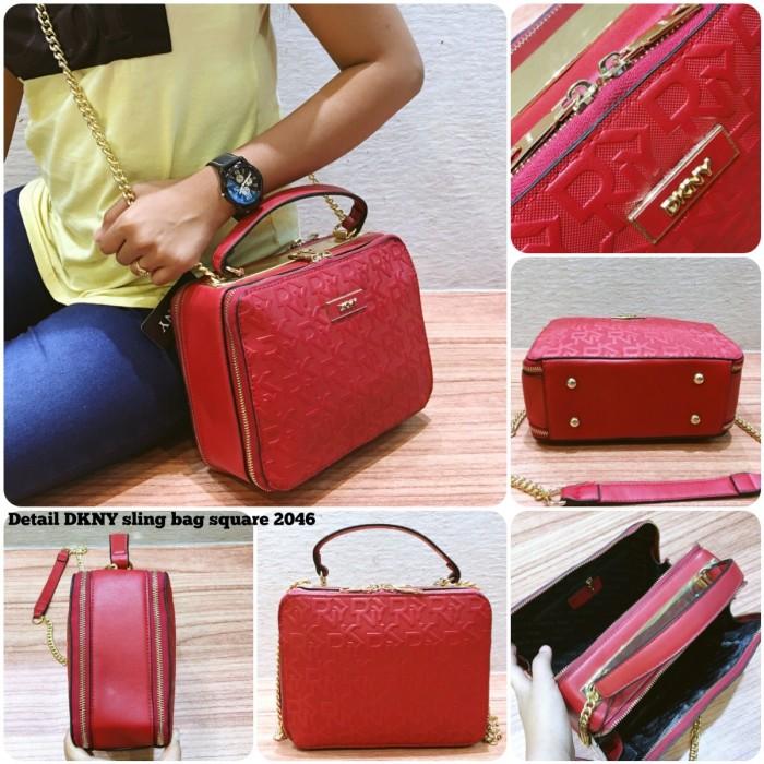 233a9dd5a53 Jual tas cewek DKNY sling bag square 2046 tas import tas terbaru tas ...