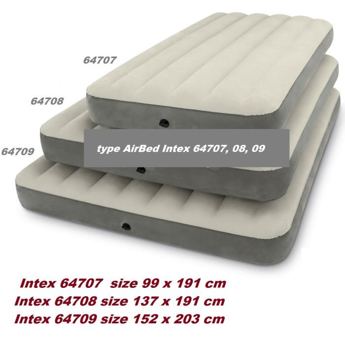 Kasur Angin Intex 64708 Dura Beam Medium 191x137 Tidur