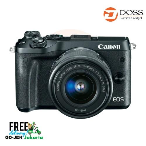 harga Canon eos m6 kit 15-45mm black Tokopedia.com