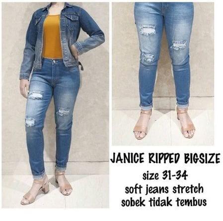 Jual Ckey Celana Panjang Wanita Boyfriend Ripped Jeans 710 Sobek Source CELANA JEANS MURAH WANITA RIPPED