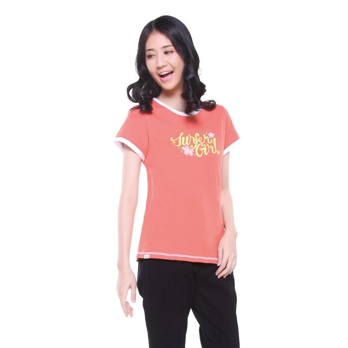 harga Surfer girl - kaos casual lengan pendek salem / peach - 8amrita Tokopedia.com