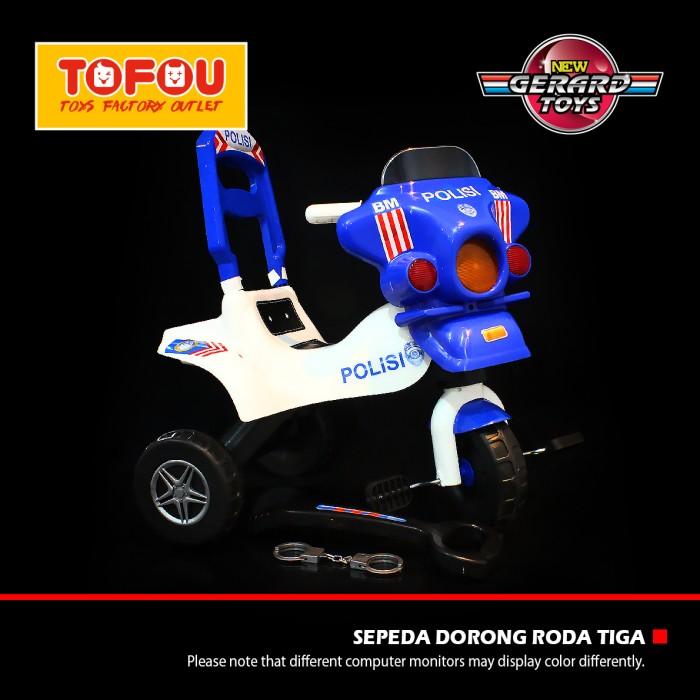 harga Mainan anak sepeda dorong roda tiga polisi ml-spl murah Tokopedia.com