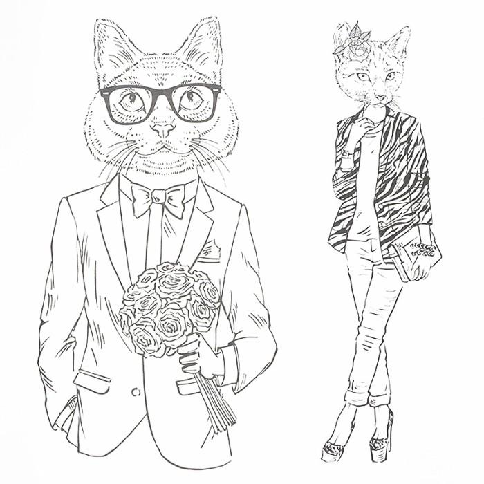 Jual Korean Fashionable Cat Coloring Book Kota Tangerang Selatan Bulbel Stuff Tokopedia