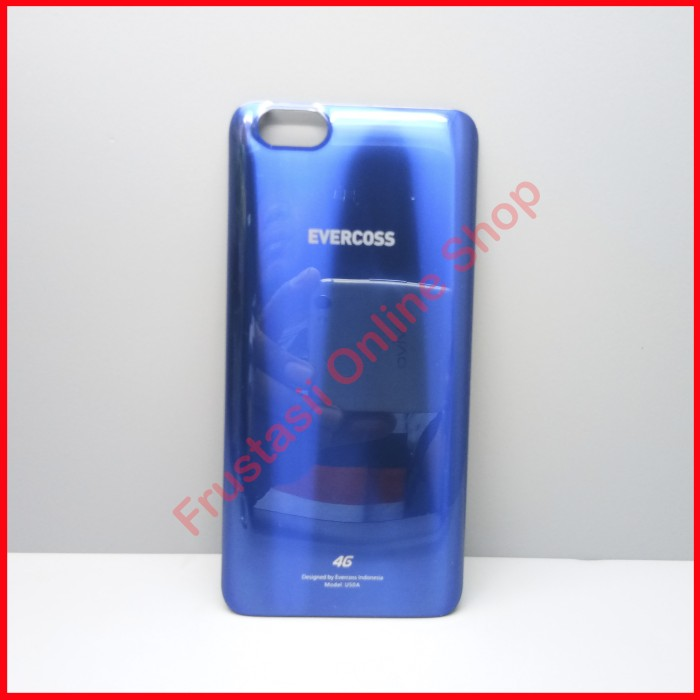 EVERCOSS U50A / U50A+ BACK CASE / BATTERY COVER / ORIGINAL GOLD/BIRU