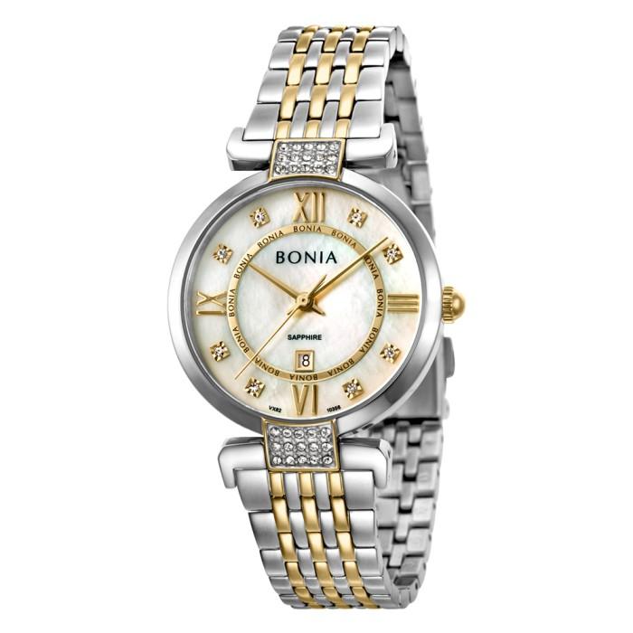 Jual Bonia – B10356-2153 – Jam Tangan Wanita – Silver Gold Harga Promo Terbaru