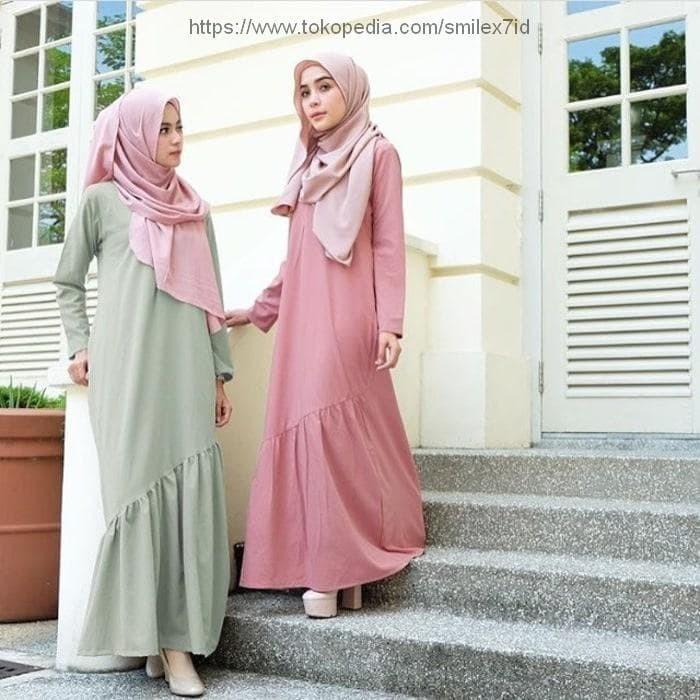 Jual Alma Dress Gamis Sehari Hari Dress Simple Baju Muslim Wanita Ter Rancasari Smile X7 Id Tokopedia