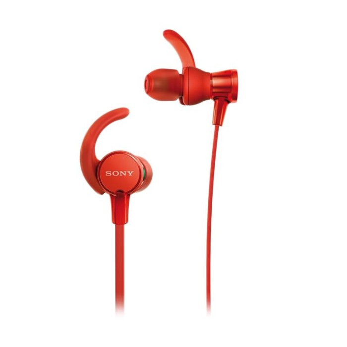 Sony Extrabass Sport Earphone MDR-XB510AS/R - Red