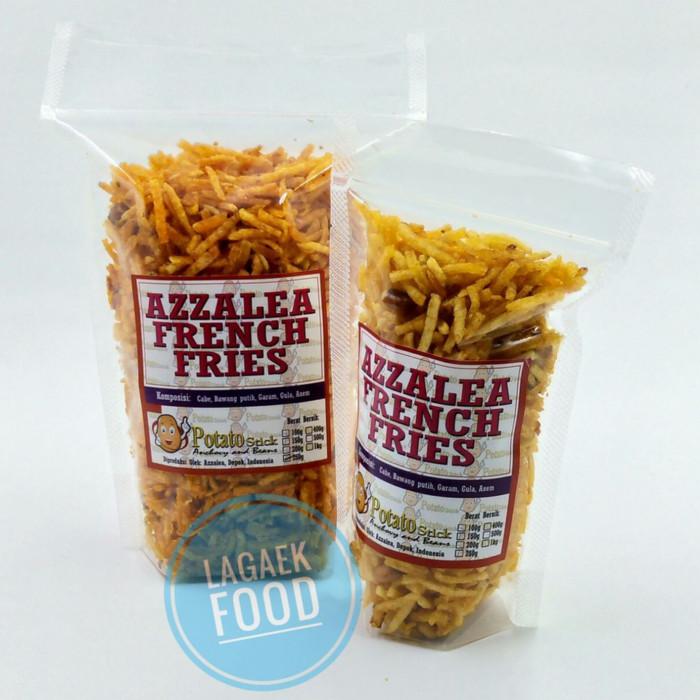 Foto Produk kentang kering kacang pedas/cemilan sehat kentang kering enak halal dari enggar baby