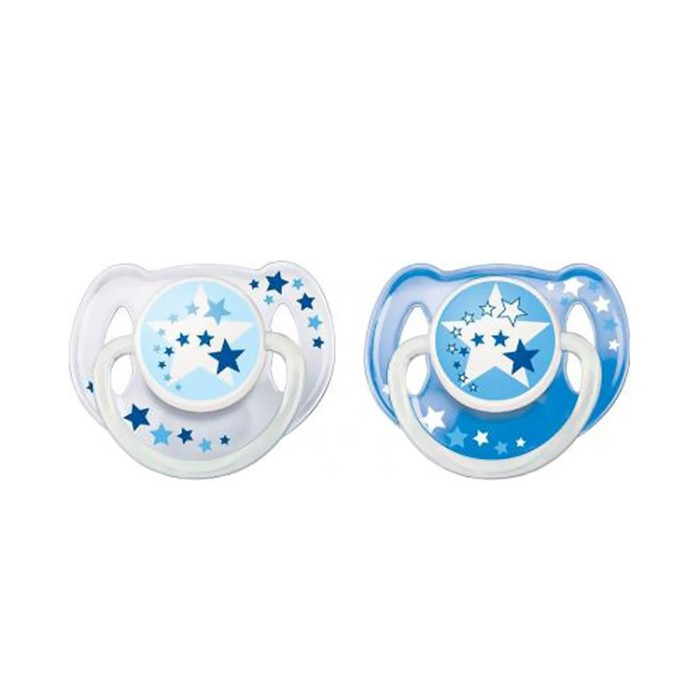 harga Avent soother night time blue 6-18m isi 2-empeng anak bayi-dot Tokopedia.com
