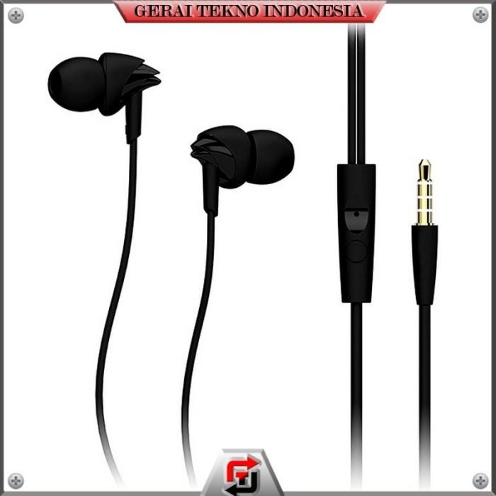 Earphone Headset Rock Lava HiFi Earphone dengan Mic Y1 Black