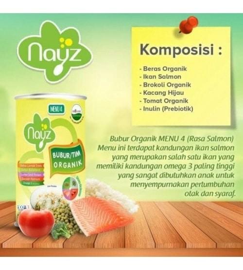 harga Nayz bubur tim organik 300gr menu 4 salmon Tokopedia.com