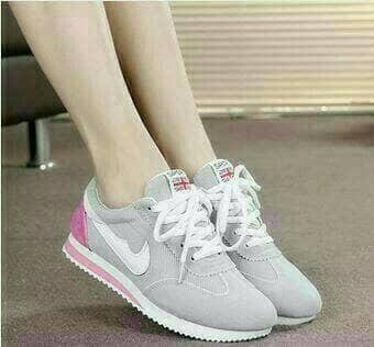 Sepatu Wanita Sport Running Olahraga Kets Senam Ds142 Abu - Daftar ... 3a7694d087