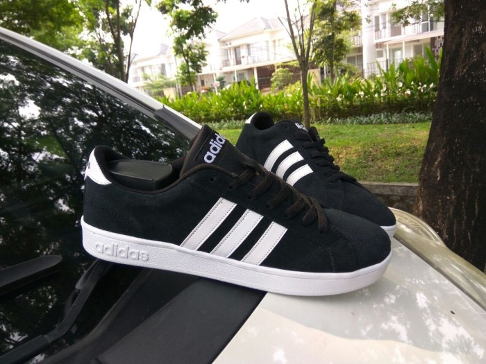 Jual Sepatu Adidas Neo Baseline Black White Suede Original - Gallery ... 9ec48fdd27