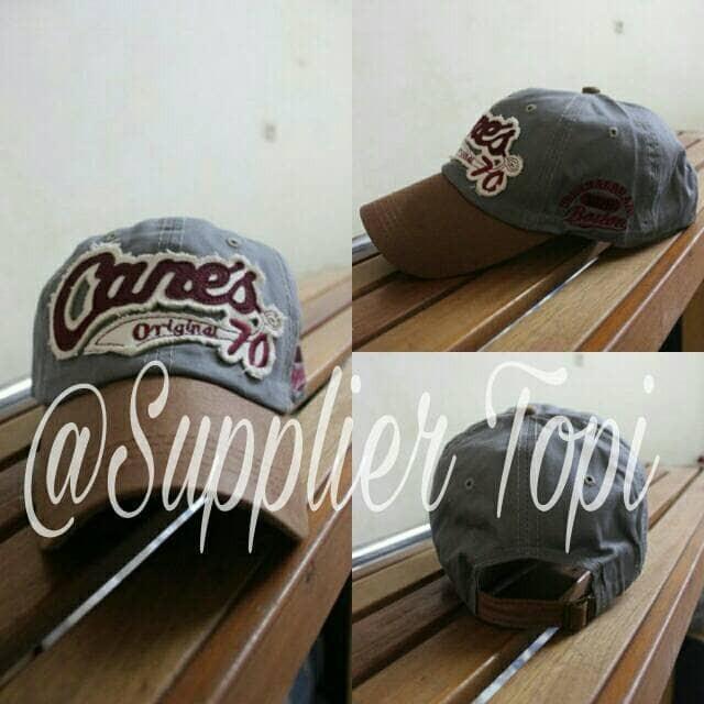 ac1b2103c6b0a Jual topi baseball import canes original 70 grey - Supplier Topi ...