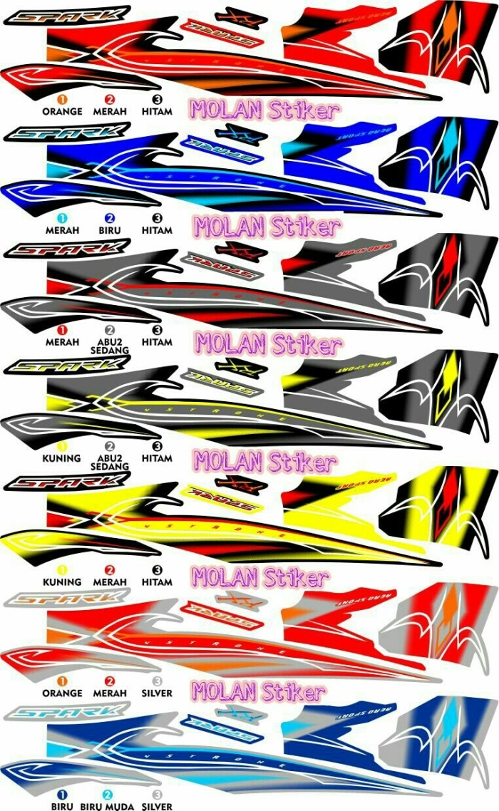 Jual Sticker Striping Variasi Thailand Thailook Jupiter Z SPARK RK Kota Bandung MOLAN Stiker