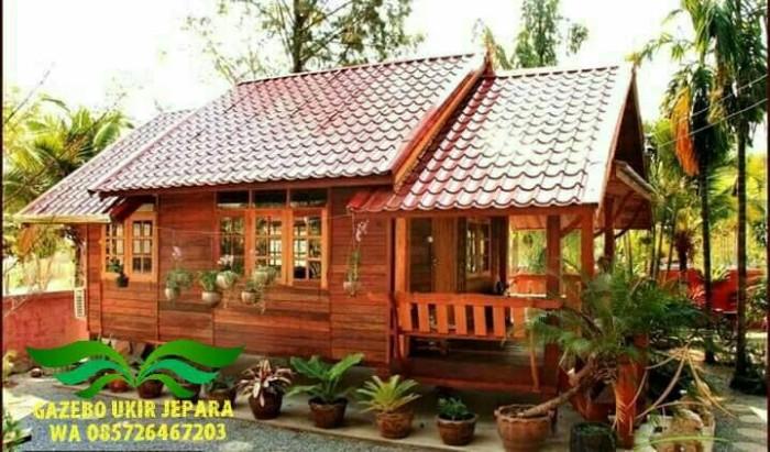 Jual Rumah kayu jati minimalis (harga per 5 meter) - Kab ...