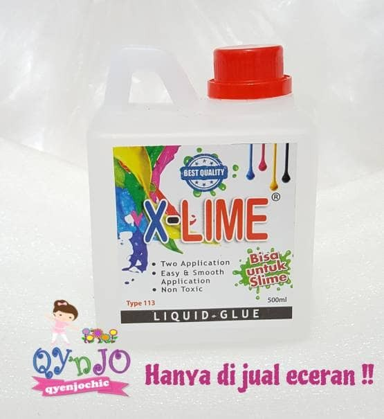 harga Lem x-lime 500ml / clear glue / slime Tokopedia.com