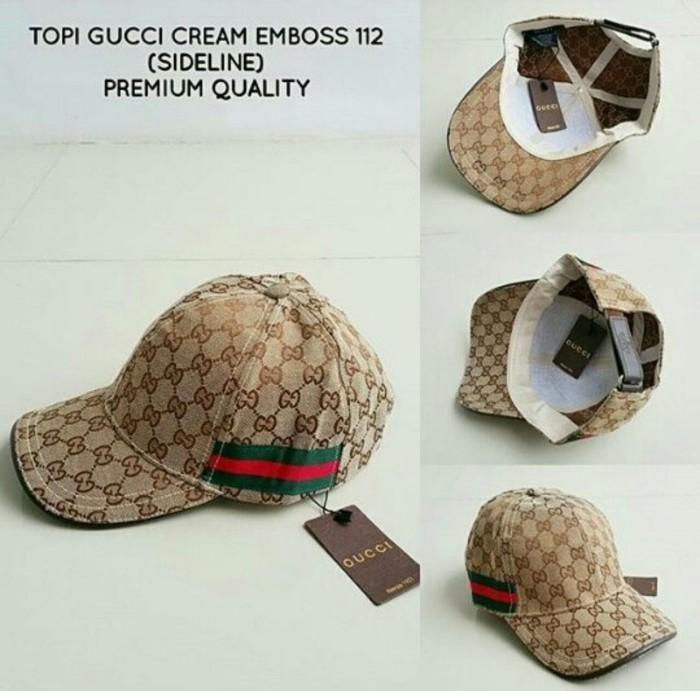 Jual Topi Gucci List Samping Premium Import  6f175664d2
