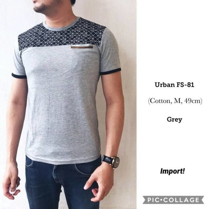 kaos pria import fashion urban fs81