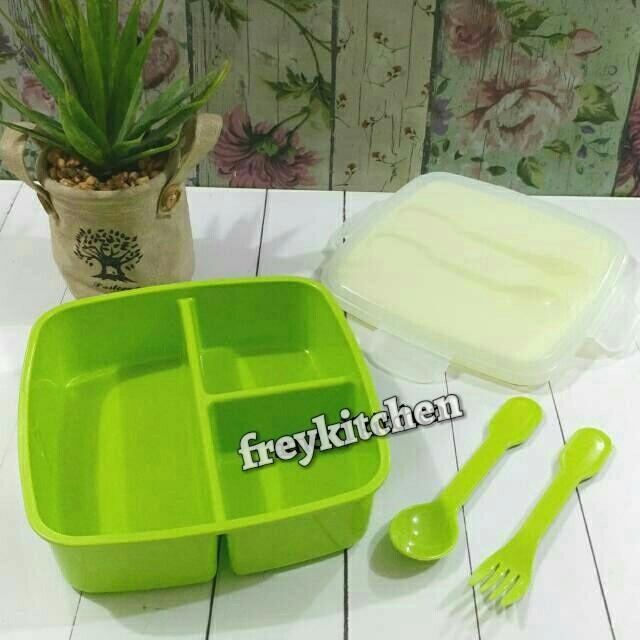 Jual Tempat Makan Sekat 3 Sendok Plastik Golden Sunkist Kota Surabaya Freykitchen Tokopedia