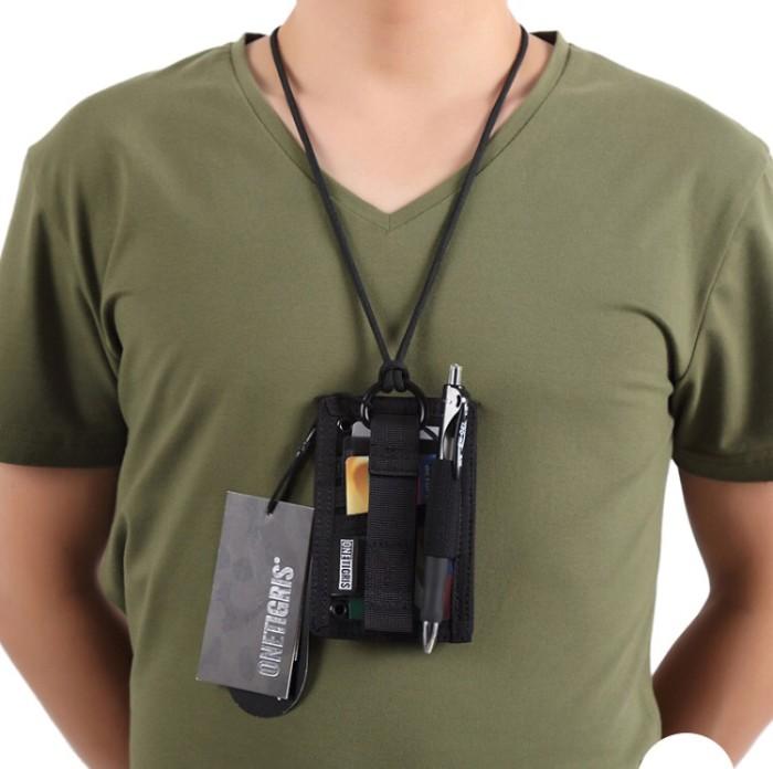 harga Tactical Id Card Holder Onetigris Patch Neck Lanyard Black Tokopedia.com
