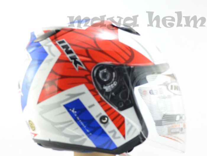 harga Helm ink centro jet corak 10 white red blue Tokopedia.com