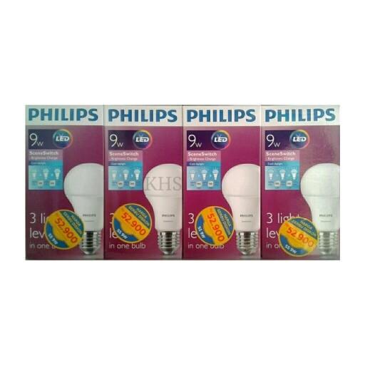 Lampu Led Philips 9w 9 w Philip Dimmer 3 Step Light Level Scene Switch
