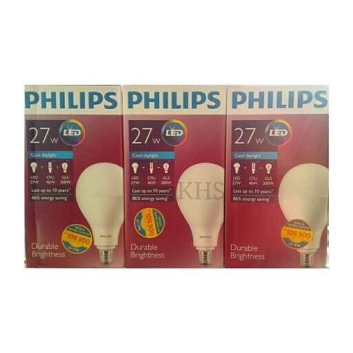harga Lampu led philips 27 watt bohlam 27w / philip putih 27 w bulb 27watt Tokopedia.com