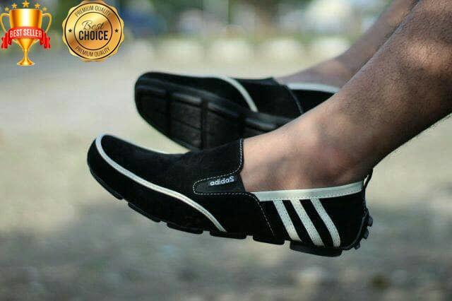 harga [ plat ] sepatu adidas cowok sepatu slip on selop sepatu casual pria Tokopedia.com
