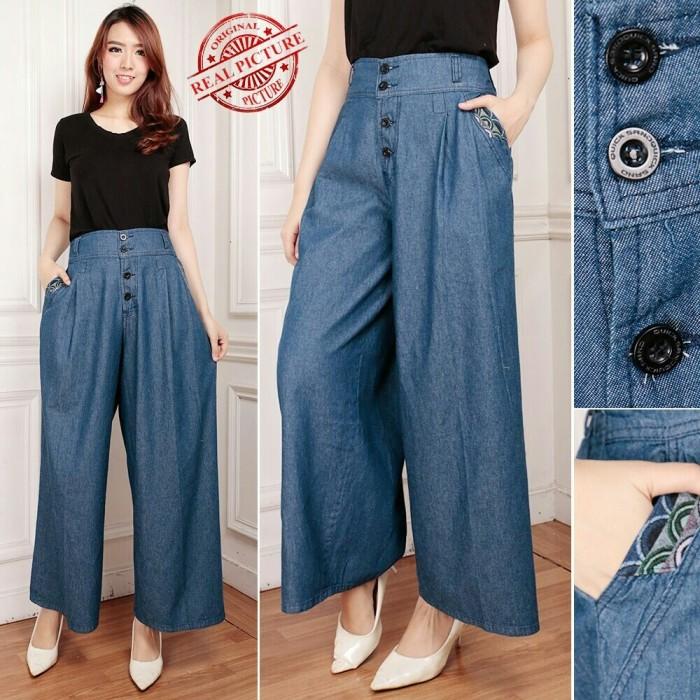 Harga Dan Spesifikasi 168 Collection Celana Alexis Kulot Pant Navy Source · Fourta Kulot Jeans Celana Rok Wanita 0104 QKW