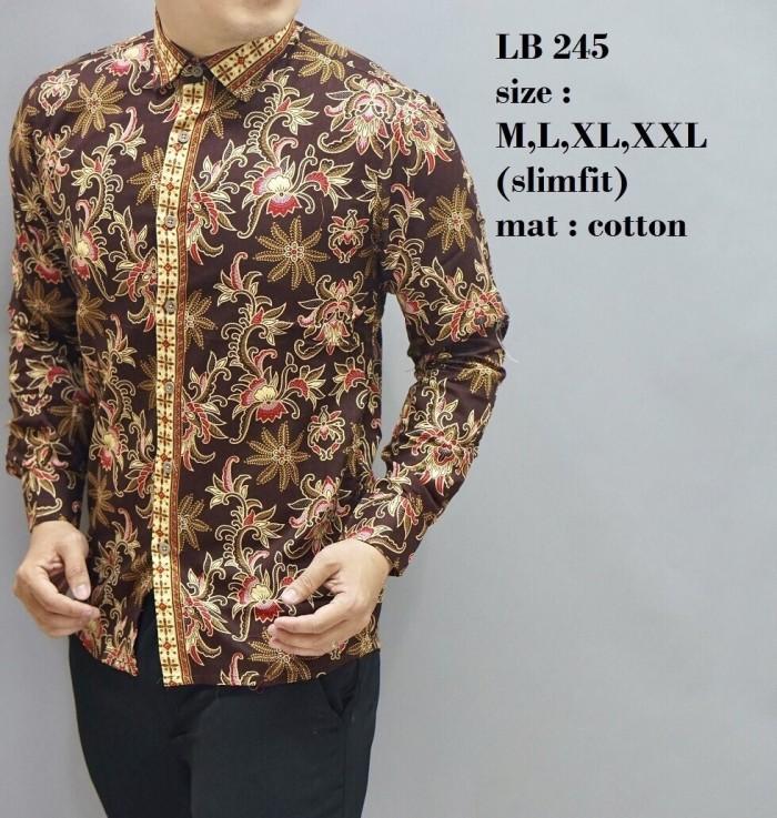 harga Batik pria baju kemeja batik modern atasan batik couple lb245 Tokopedia.com
