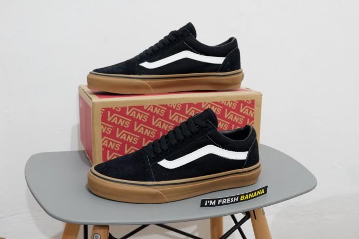 Jual Sepatu Vans Old Skool Classic Black White Gum DT Premium ... ab033cbda6