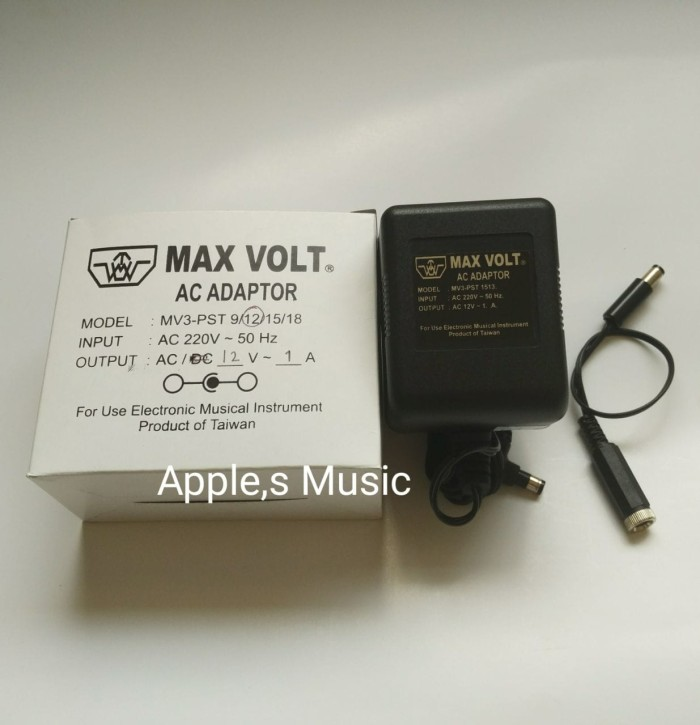 harga Max volt 12v ac 1a for zoom gfx4 gfx8 rfx1000 rfx2000 digital effect Tokopedia.com