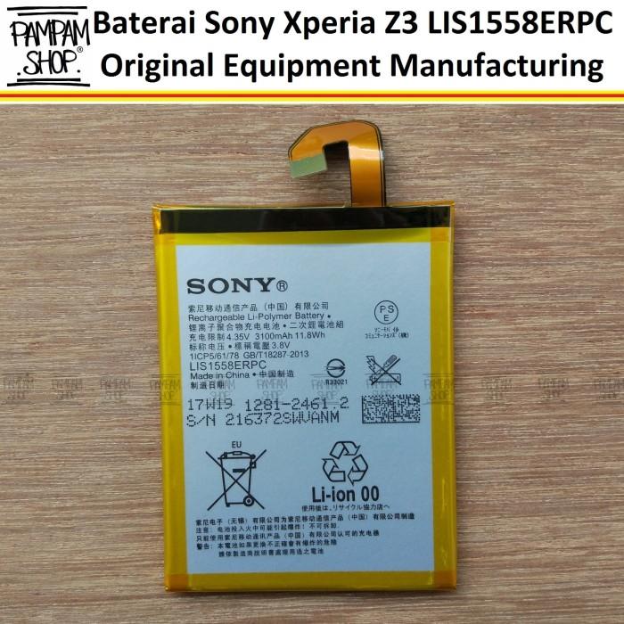 harga Baterai handphone sony xperia z3 lis1558erpc original oem  batre Tokopedia.com