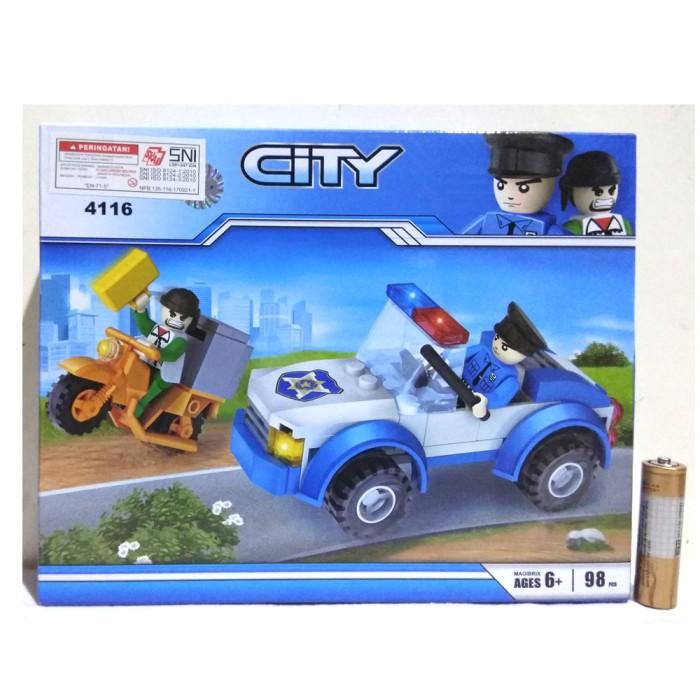 Jual Lego City Mobil Polisi Dengan Figure Dan Diorama Cogo 4116