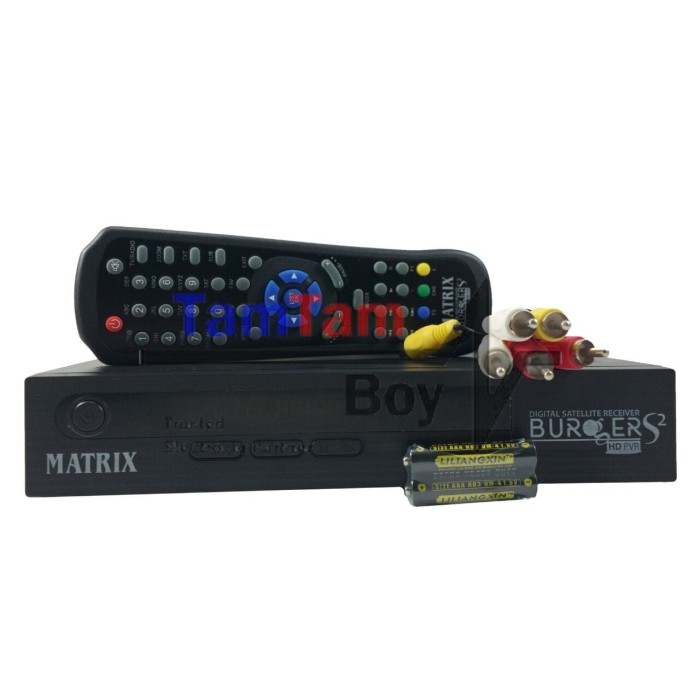 Jual Receiver Parabola Matrix Burger S2 HD New AVS Power Vu, Bisskey, Ccam  - Kota Surabaya - tamtamboyz08 | Tokopedia
