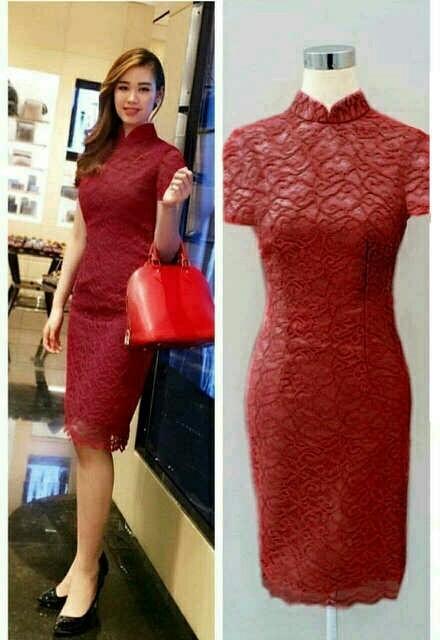 harga Dress eunby shanghai maroon Tokopedia.com