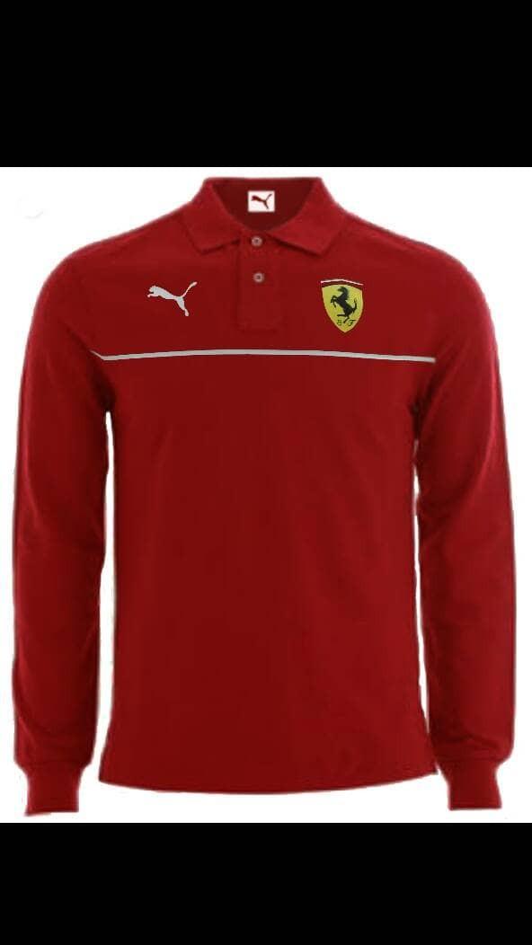 Jual Kaos Polo Wangky Puma Ferrari Lengan Panjang merah - xmute ... e8e934df27