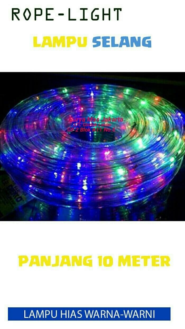 harga Lampu led strip selang/rope light 10m/10 m/10 meter rgb warna warni Tokopedia.com