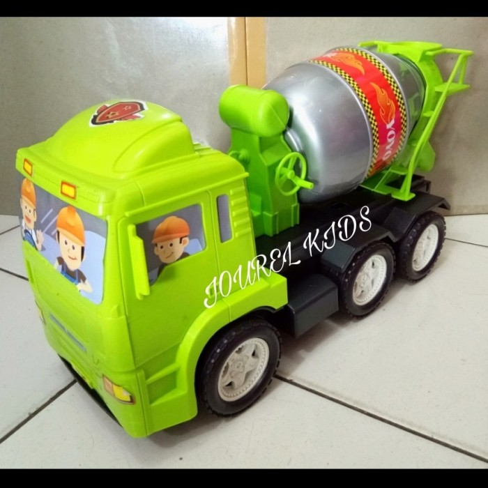 Mainan anak mobil besar mobilan dorong truk semen mixer kontainer