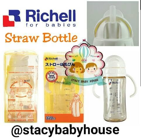 Richell Baby Ppsu Straw Bottle 320 ml