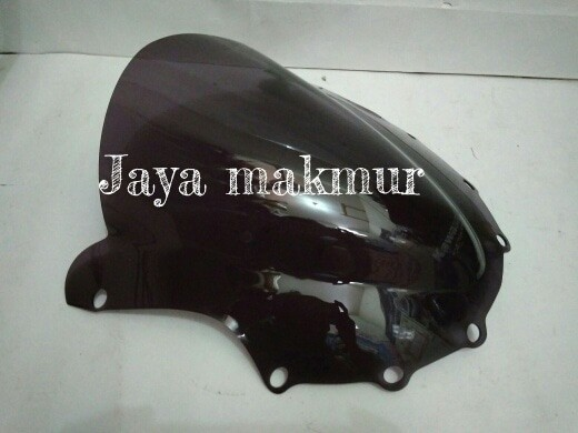 Visor ninja rr lama+logo bening dan hitam